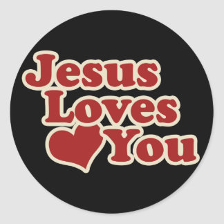 Jesus Loves you for Christians Classic Round Sticker