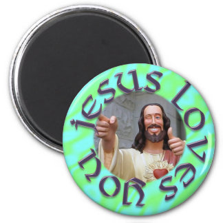 Jesus Loves You Fridge Magnets