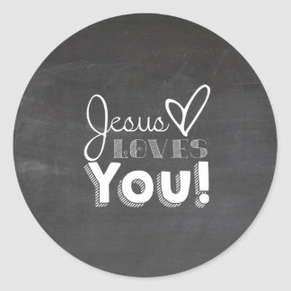 Jesus Loves You Gift Classic Round Sticker