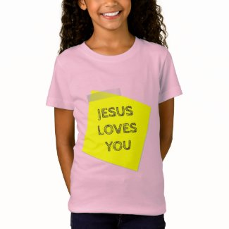 Jesus Loves You Girl's Jersey T-shirt