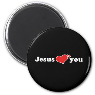 Jesus Loves You Heart 2 Inch Round Magnet