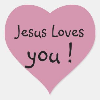 Jesus Loves you! Heart Stickers - 20 per sheet