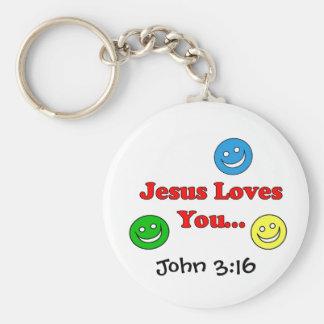 Jesus Loves You - John 3:16 Keychain