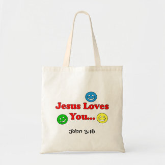 Jesus Loves You - John 3:16 Smiley Bag