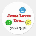 Jesus Loves You - John 3:16 Sticker
