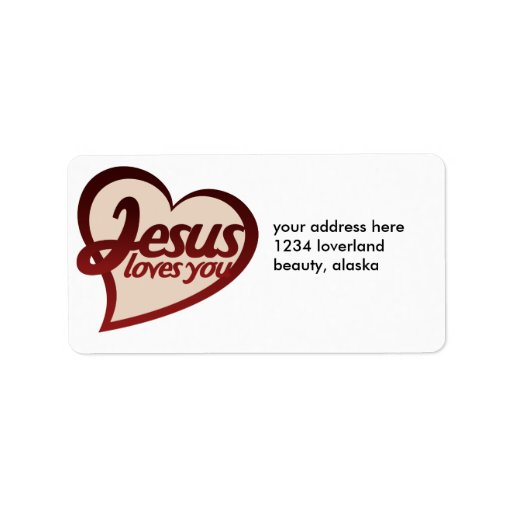 Jesus Loves you Personalized Address Label