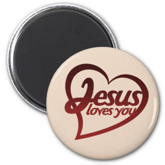 Jesus Loves you 2 Inch Round Magnet