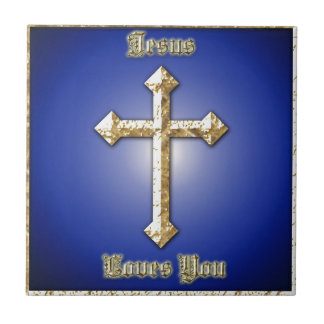 Jesus Loves You multiple products selected Tile