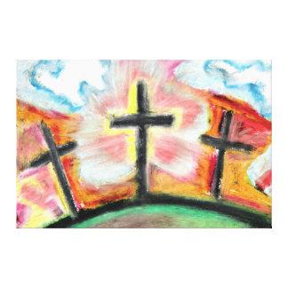 """Jesus Loves You"" Oil Pastel by Levi Glassrock Canvas Print"
