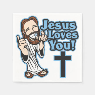 Jesus Loves You Paper Napkin