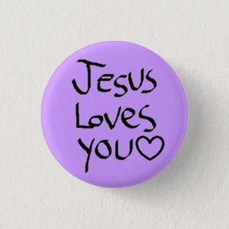 Jesus Loves You Pinback Button