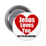 Jesus Loves You Pinback Button