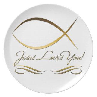 Jesus Loves You Plates