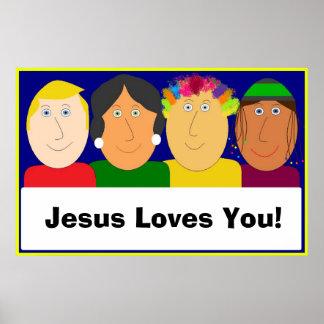 Jesus Loves You! Print