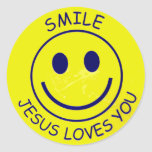Jesus Loves You spalls Classic Round Sticker