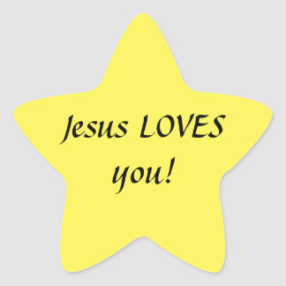 Jesus LOVES you! Star Stickers