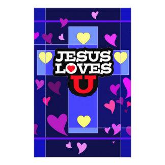 JESUS LOVES YOU STATIONERY