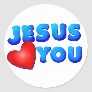 Jesus Loves You Classic Round Sticker