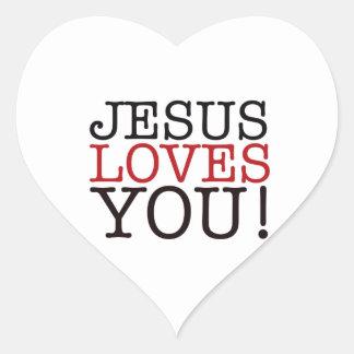 Jesus Loves You! Heart Sticker