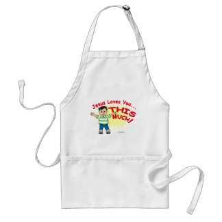 Jesus loves you this much Christian gift design Adult Apron