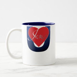 Jesus Loves You Two-Tone Coffee Mug