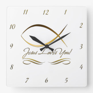 Jesus Loves You Wall Clock