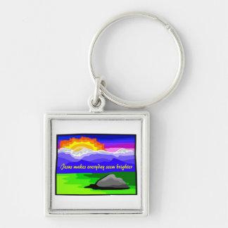 Jesus makes everyday brighter keychain