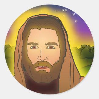 Jesús: Mañana de la resurrección Pegatina Redonda