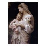 JESÚS, MARIA Y EL CORDERO TARJETA DE FELICITACIÓN