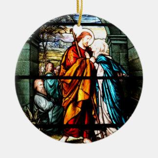 Jesus & Mary Ceramic Ornament