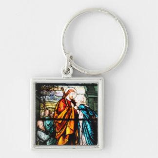 Jesus & Mary Keychain