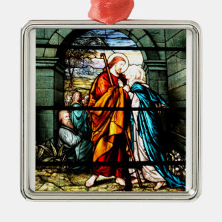 Jesus & Mary Metal Ornament