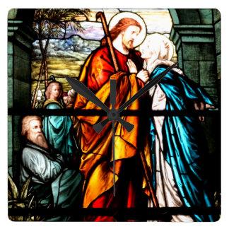Jesus & Mary Square Wall Clock