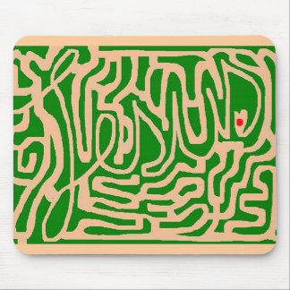 Jesus maze mouse pad