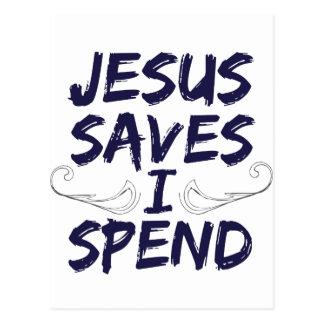 Jesús me ahorra pasa tarjeta postal