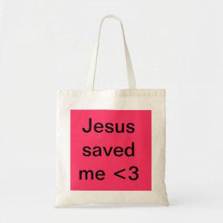 Jesús me ahorró bolsa tela barata