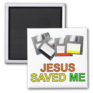 Jesús me ahorró (del disco blando) imán de frigorifico