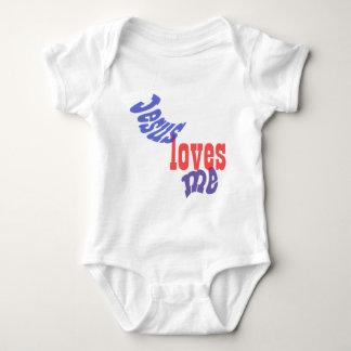 Jesús me ama bebé body para bebé