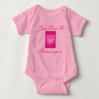 Jesús me ama bebé Onsie T Shirts