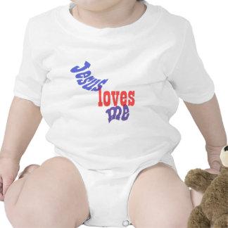 Jesús me ama bebé camisetas