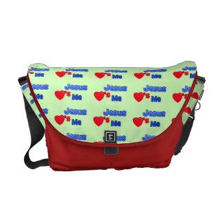 Jesús me ama bolso bolsas de mensajería