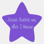 Jesús me ama calcomania forma de estrella