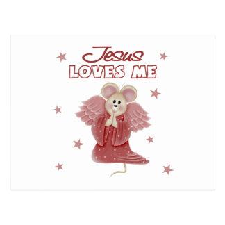 Jesús me ama, chica postal