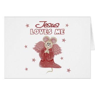 Jesús me ama, chica tarjeta de felicitación