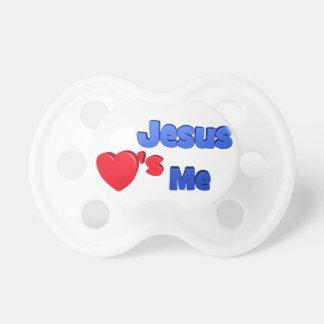 Jesús me ama chupete de bebé