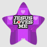 Jesús me ama colcomanias forma de estrellaes