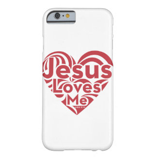 Jesús me ama funda para iPhone 6 barely there