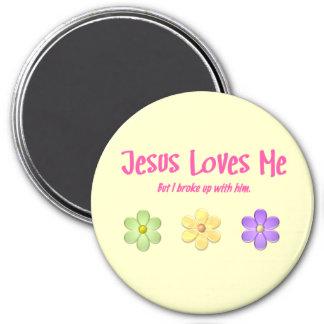 Jesús me ama imán redondo 7 cm