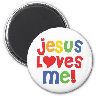 ¡Jesús me ama! - imanes Imán Redondo 5 Cm