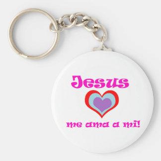 Jesus me ama llaveros personalizados